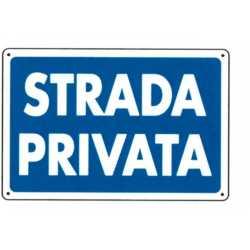 CARTELLO PARCHEGGIO PRIVATO TARGA 20x30 cm
