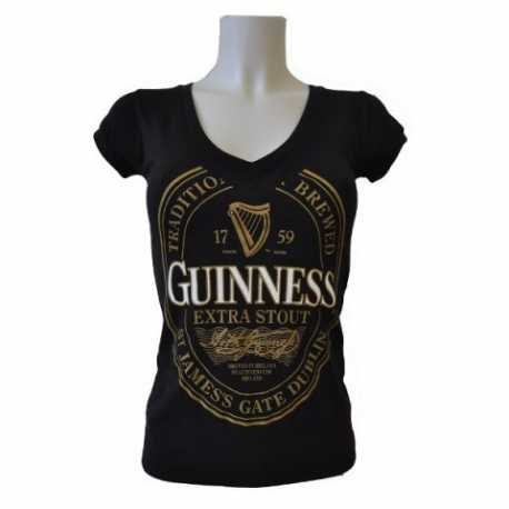 T-SHIRT MAGLIETTA MAGLIA GUINNESS BEER DONNA TAGLIA SMALL S ORIGINALE IRLANDESE