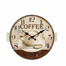 OROLOGIO DA PARETE MURO VINTAGE STILE CONTRY ANTICO CAFFE' COFFEE BAR DIA 33CM