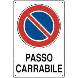 CARTELLO PASSO CARRABILE 20X30